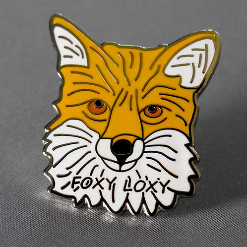 Foxy Loxy Enamel Pin Badge