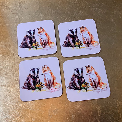 Let's Bee Friends Coasters