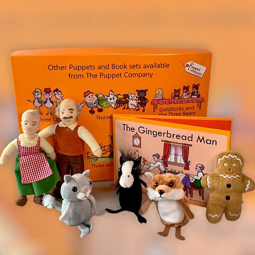 The Gingerbread Man Nursery Rhyme Book with Finger Puppets