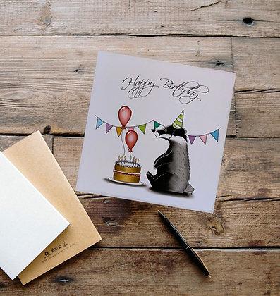 Happy Birthday Badger Card