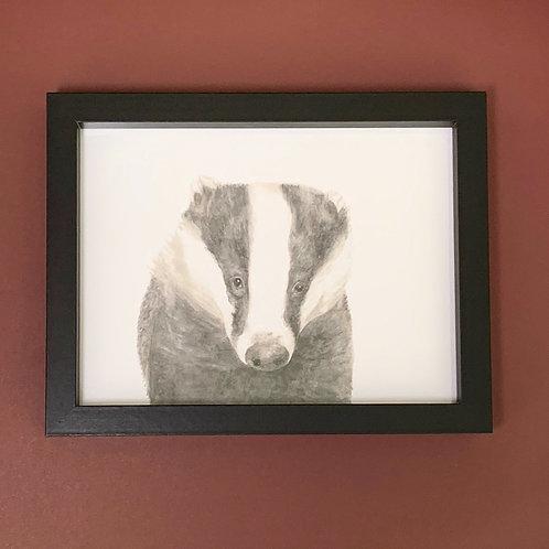 Mr Lumpy Watercolour Black Box Frame Print