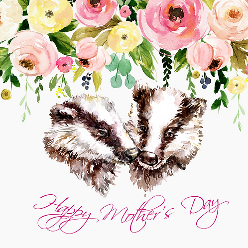 Badger Bouquet Mother's Day Card
