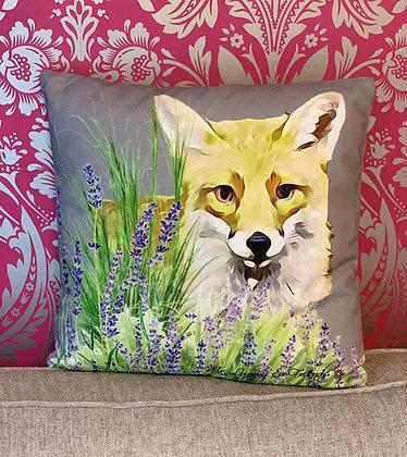 Foxy Loxy  Lavender Field Cushion