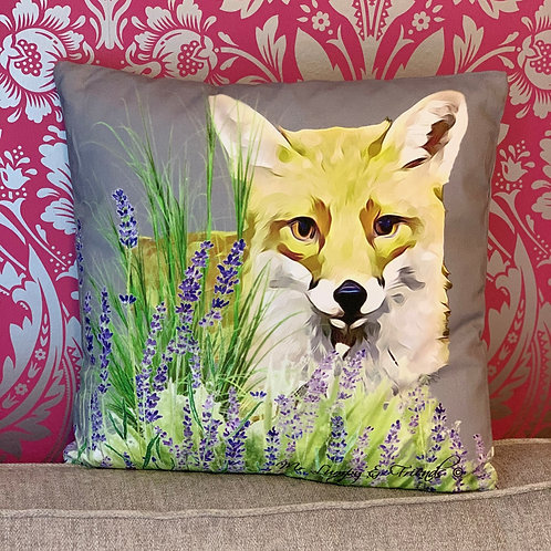 Foxy Loxy  Lavender Field Cushion