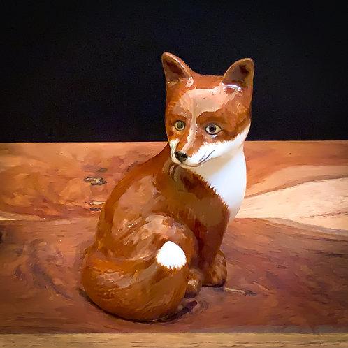 Quail Ceramic Foxy Figure