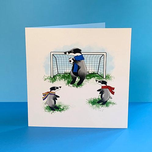 Sporty Badger Blank Card
