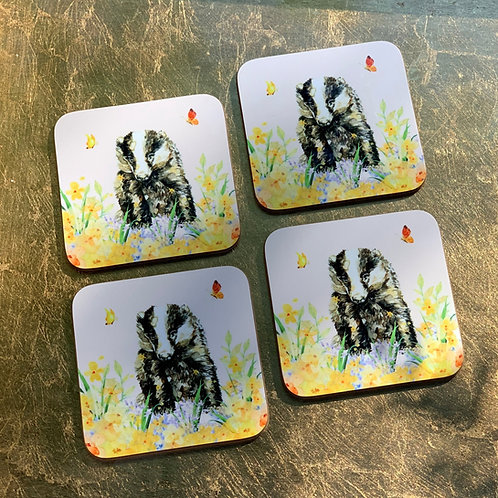 Butterfly Badger Coasters