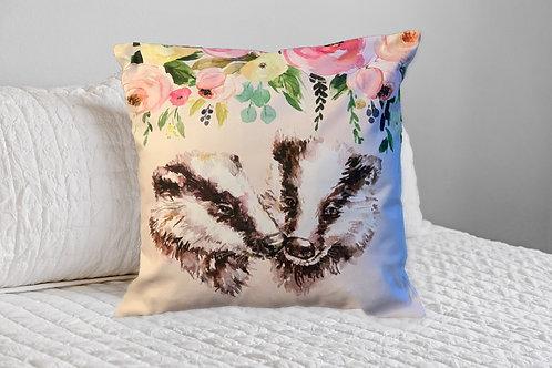 Badger Bouquet Cushion