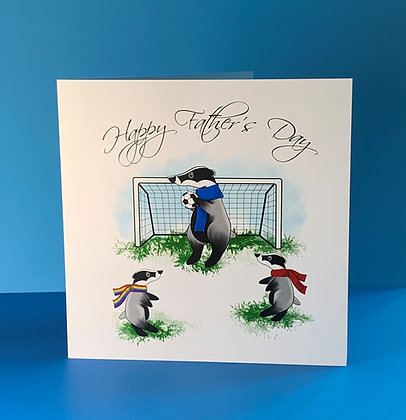 Sporty Badger Father's Day Card