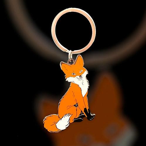 Snowdrop The Fox Keyring