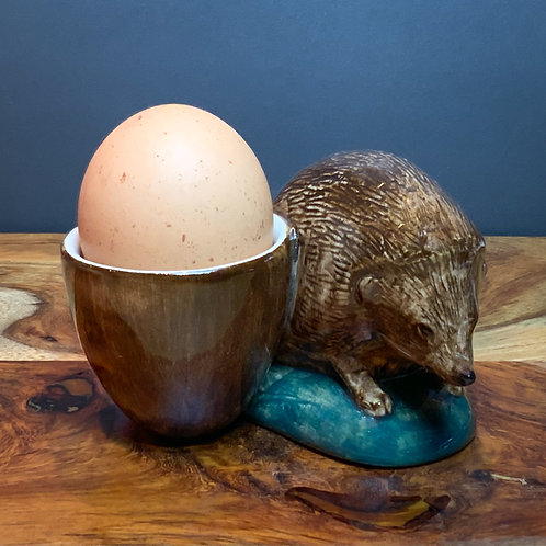 Quail Ceramic Hedgehog Egg Cup