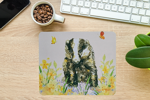 Butterfly Badger Computer Mouse Mat