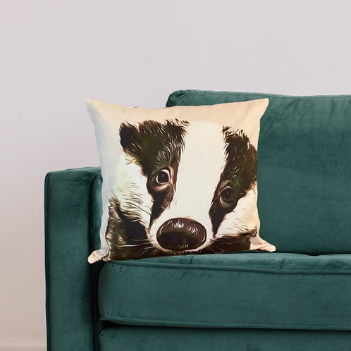 Baby Bumpy Badger Cushion