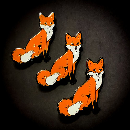 Snowdrop The Fox  Pin Badge