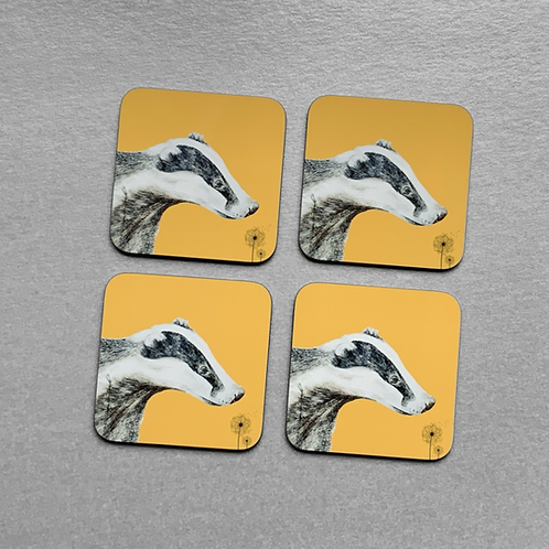 Dandelion Badger Drinks Coasters