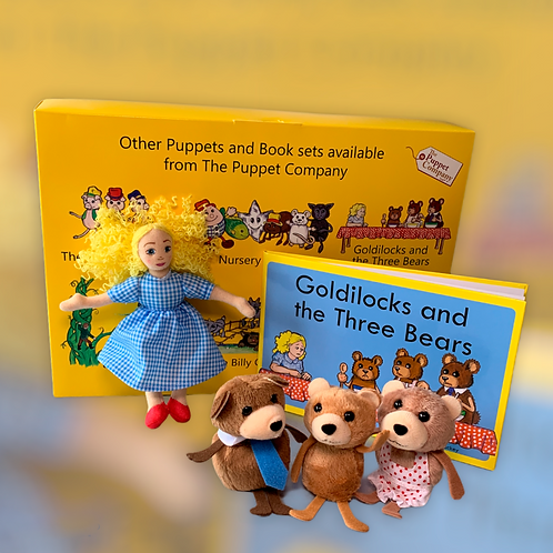 Goldilocks and The Three Bears Nursery Rhyme Book with Finger Puppets