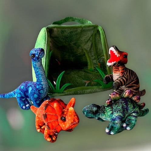 Dinosaur House Hide Away Finger Puppets
