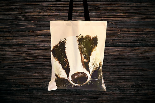 Bumpy Face Badger Tote Bag