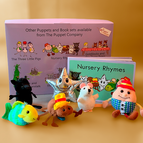 Nursery Rhymes Book & Finger Puppets