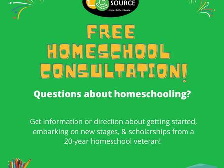 Free Homeschool Consultation!