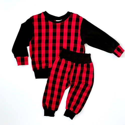 Buffalo Plaid Pullover (Red)