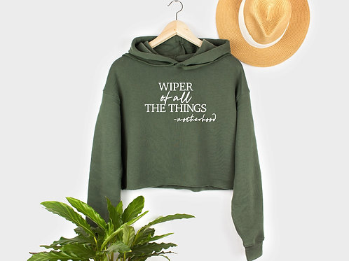 Wiper of all the Things // Fleece Crop Pullover