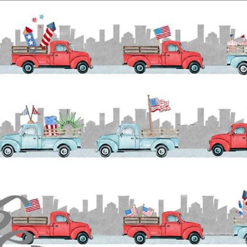 Patriotic Truck Twirl Dress