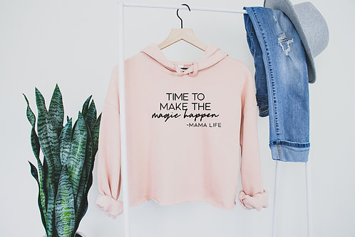 Make the Magic Happen // Fleece Crop Hoodie