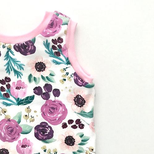 Plum Floral T-Shirt // Tank