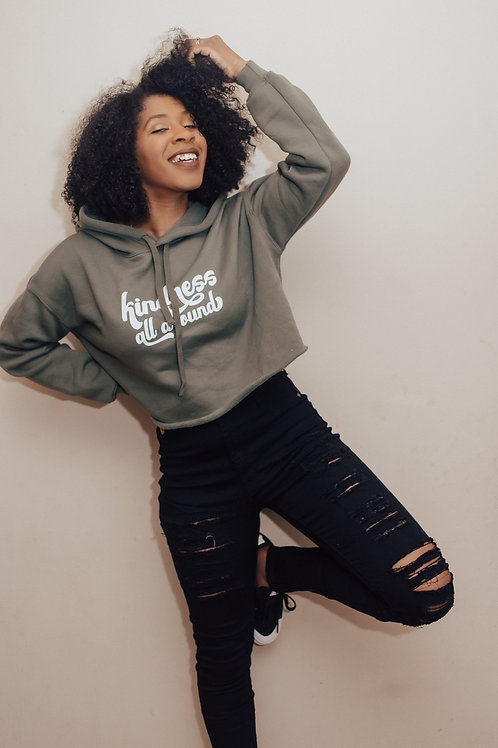 Kindness All Around // Fleece Crop Pullover
