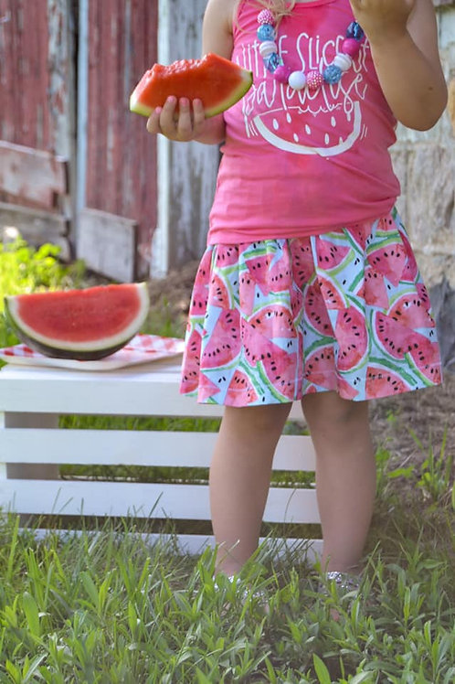 Watermelon Crawl Skirt