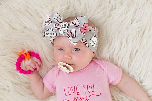Candy Heart Bow Headwrap