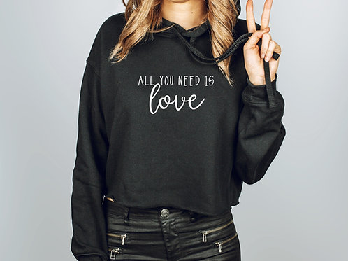 All You Need Is Love // Fleece Crop Pullover