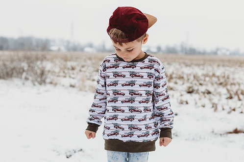 Vintage Christmas Truck Pullover