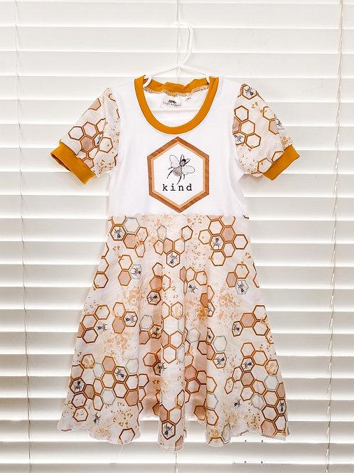 Bee Kind Twirl Dress