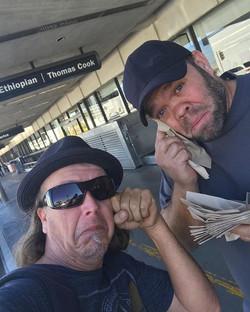 So sad, you know your buddy Chris will be back soon from #vegas #Sidekickflewaway #bandmate #vegasst