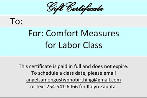 Comfort Measures for Labor