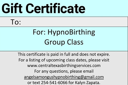 HypnoBirthing Group Class