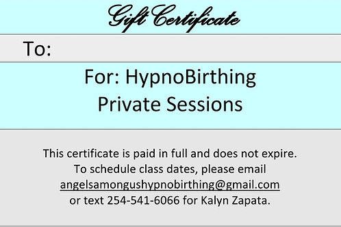 Private Sessions Gift Certificate