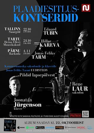 Joonatan Jürgenson, Rene Laur, Classical music cd album saxophone piano