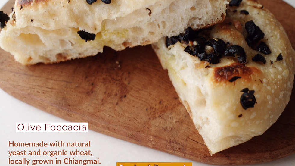 Olive Foccacia (Natural yeast)