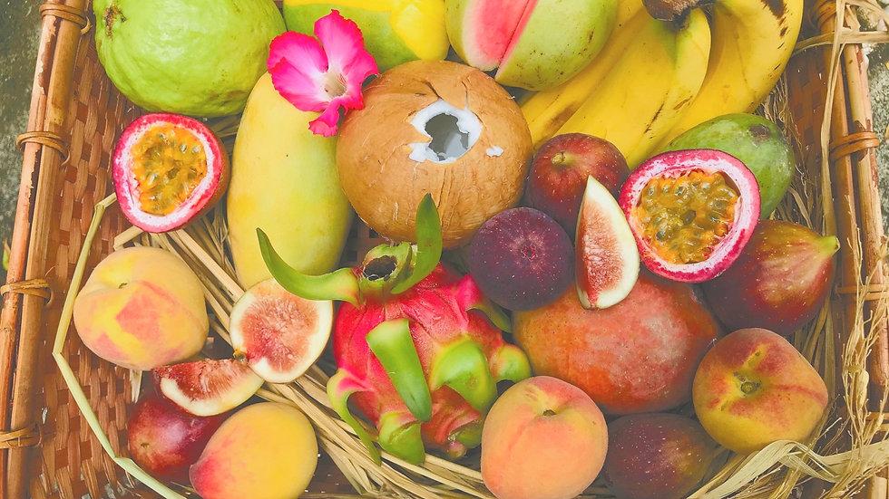 Tropical fruit set (10 varieties of fruit)