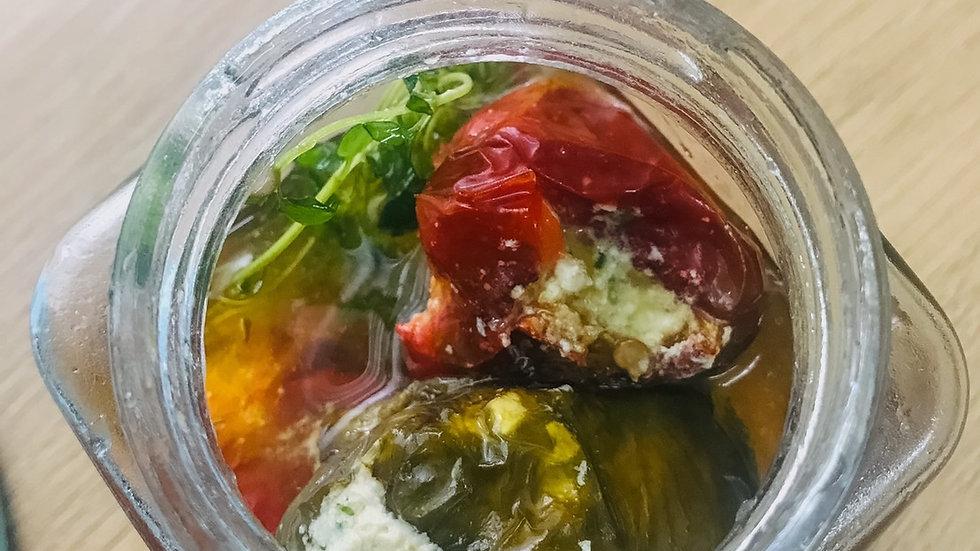 Goat cheese stuffed organic bell pepper (250ml jar)