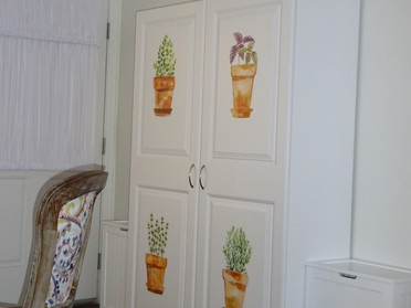 How to Add Charm to Plain White Cabinets