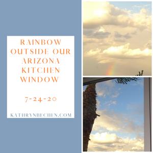 Kathryn Bechen kitchen window rainbow