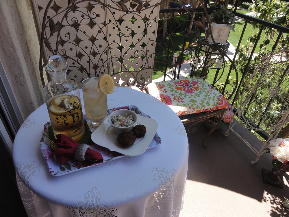 Tea for one on the terrace with Kathryn Bechen