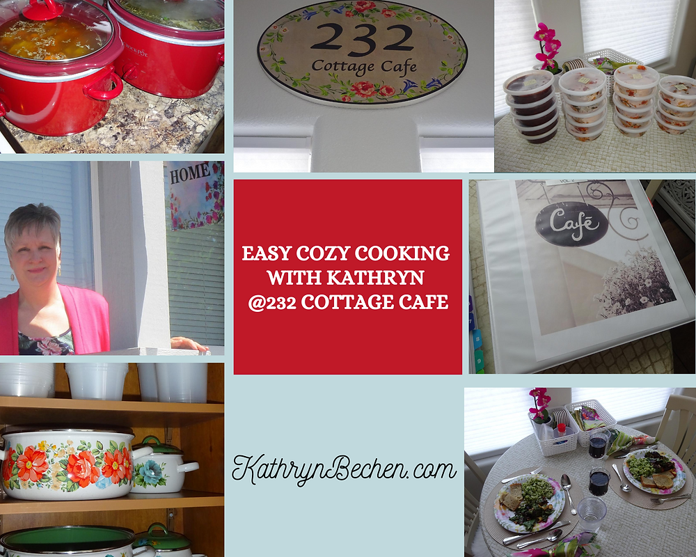 Kathryn Bechen cooking @232 Cottage Cafe