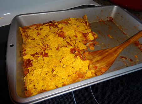 Easy Tortilla Chips & Black Beans Casserole