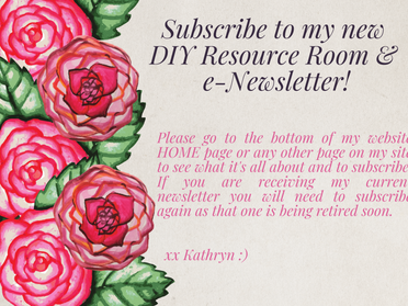 How to Subscribe to My New DIY Resource Room & e-Newsletter