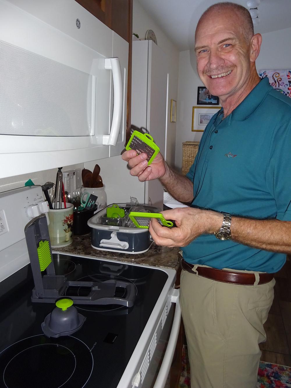 Steve Bechen cooking